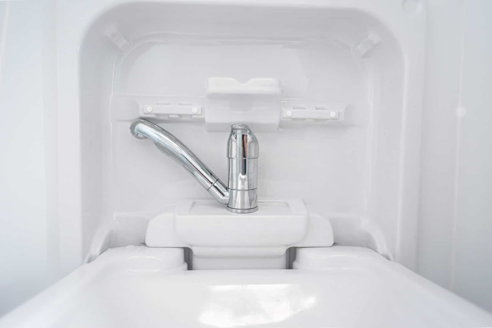 Bathroom sink - campervan water system installation