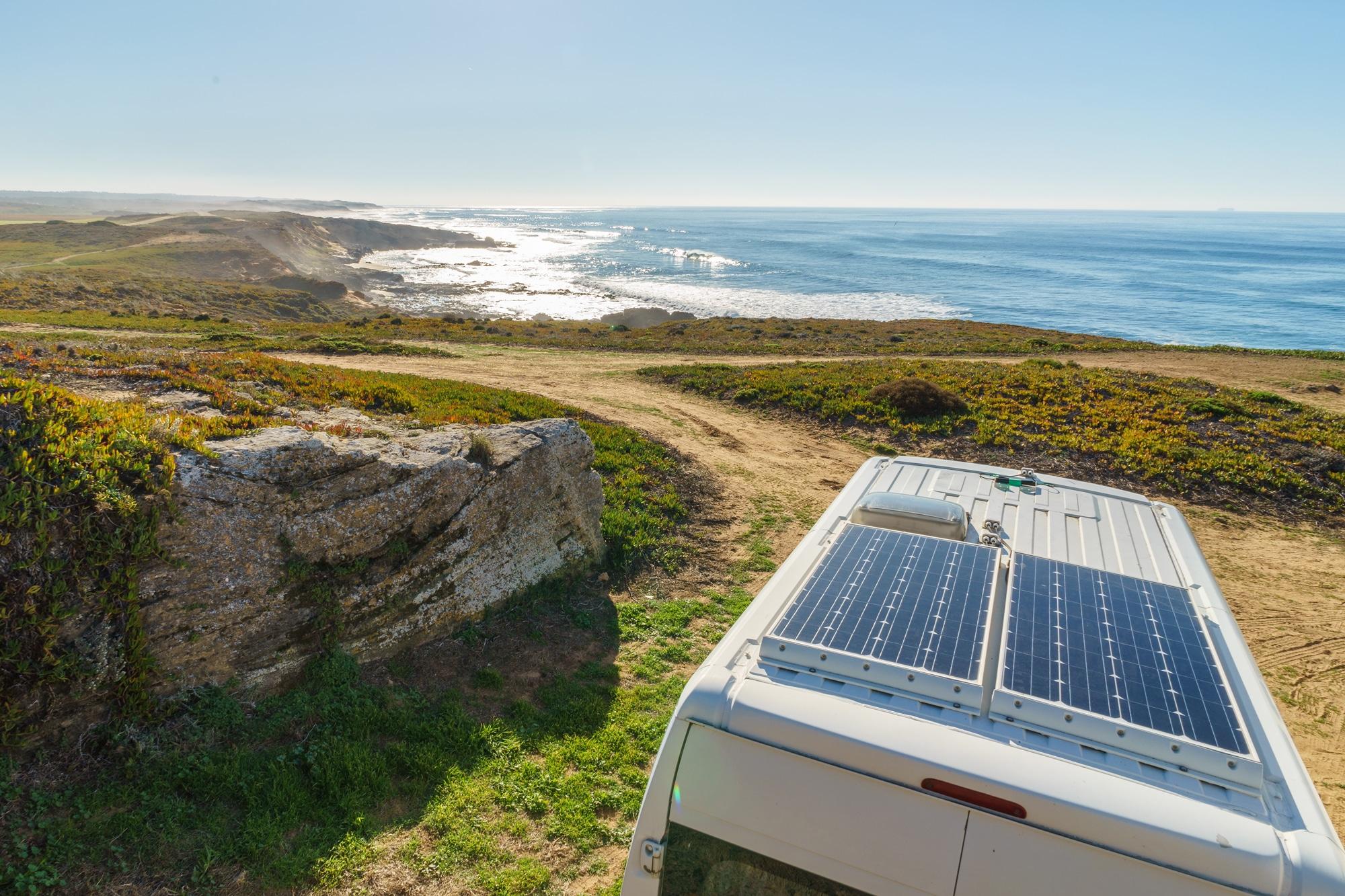 beach solar campervan solar panel fitting