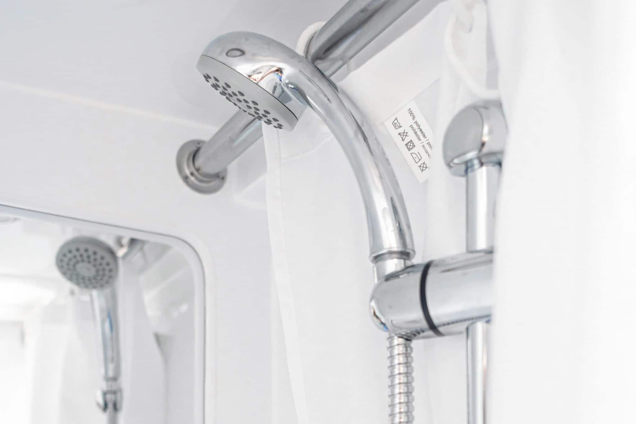 Campervan shower - campervan water system installation Scotland